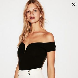 NWT! Express Fitted Sweetheart Off Shoulder Top